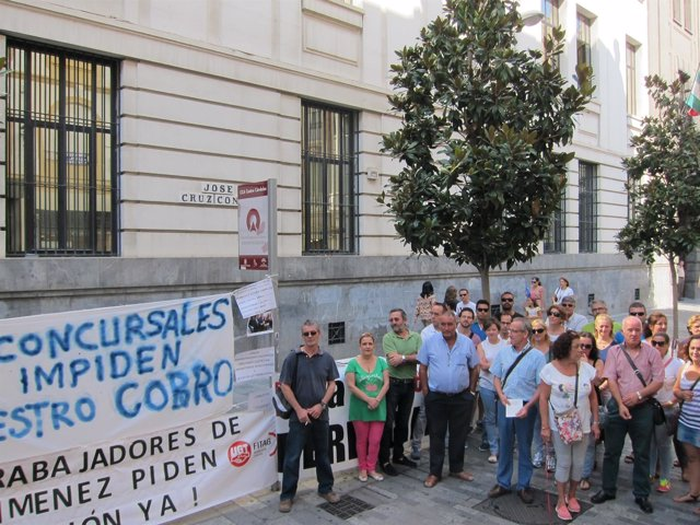 Los trabajadores de Pérez Giménez en la calle Cruz Conde