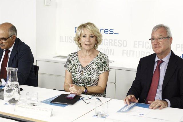 Esperanza Aguirre en el Comité Ejecutivo del PP