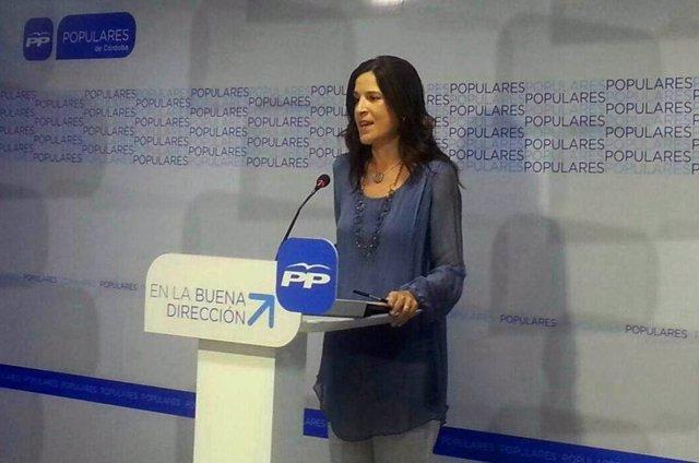 Pilar Gracia en la sede del PP de Córdoba