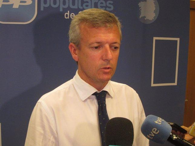 El secretario xeral del PPdeG, Alfonso Rueda