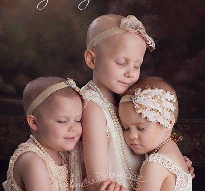 Las niñas con cáncer de la foto que se hizo viral están recuperadas