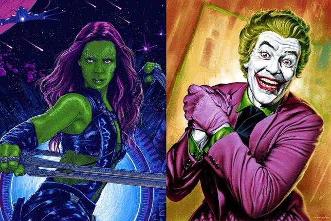 Gamora y el Joker en posters Mondo