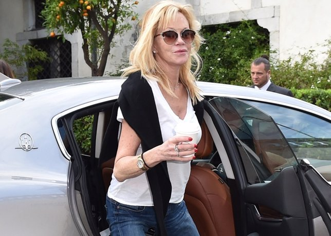 Actress Melanie Griffith attends the 60th Taormina Antonio Banderas