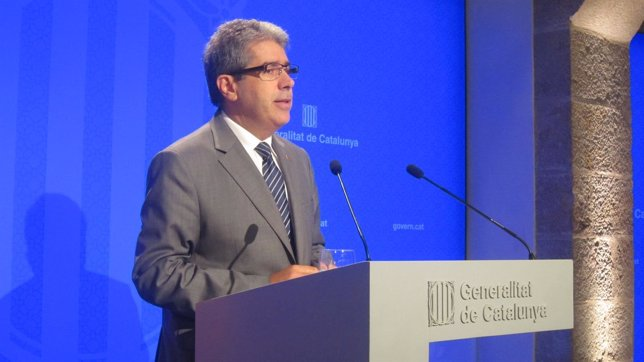 El conseller Francesc Homs en rueda de prensa