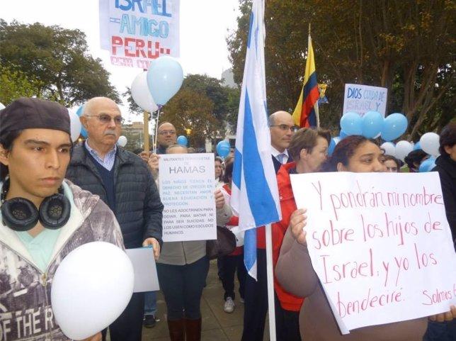 Manifestación en Perú en apoyo a Israel