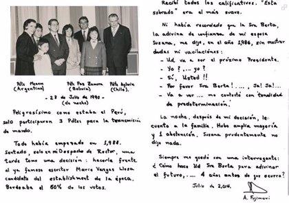 Fujimori recuerda en su 76 cumpleaños que una adivina le anticipó que sería presidente