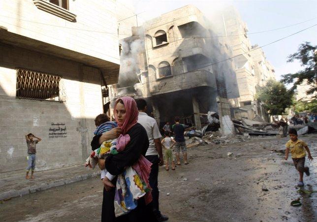 La crisis en la Franja de Gaza amenaza a un millón de niños