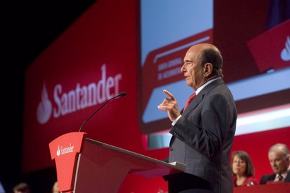 Economía.- (Ampl.) El Santander gana 2.756 millones hasta junio, un 22% más, por mayores ingresos y menores dotaciones