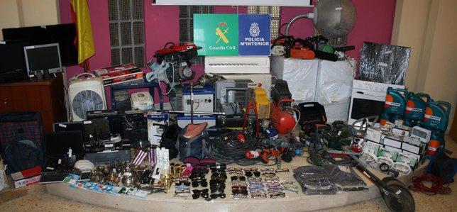 Desarticulado un grupo itinerante al que se le imputan 46 robos en viviendas, pr