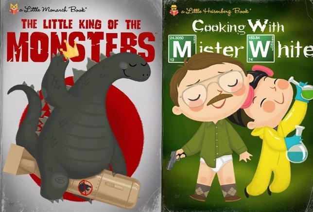 Películas y series en Little Golden Books