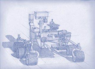 Boceto del rover Mars 2020