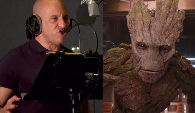 Vin Diesel grabando la voz de Groot