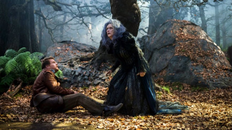 La malvada bruja y el panadero en Into The Woods