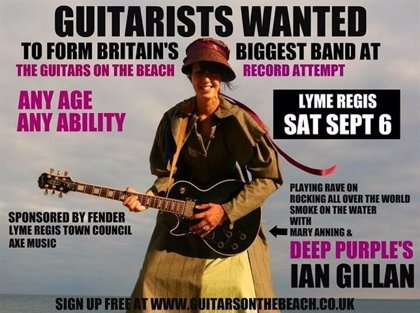 Miles de guitarristas tocarán 'Smoke on the Water' de Deep Purple