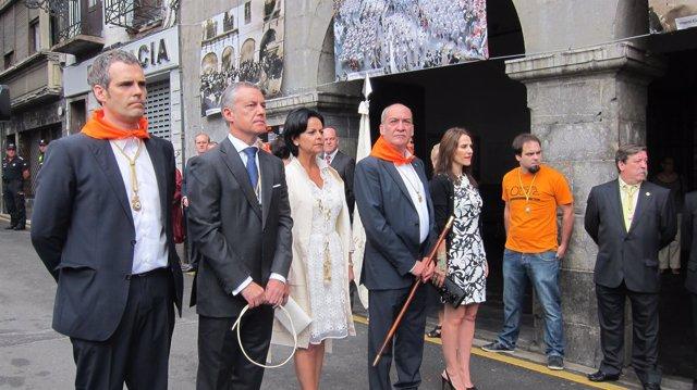 Urkullu, Garitano, Tejeria y otras autoridades en Azpeitia