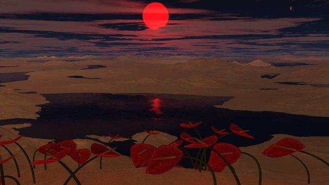 Mundo habitable con un planeta compañero