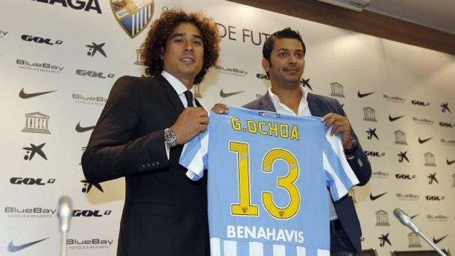 El nuevo portero del Málaga, Guillermo Ochoa