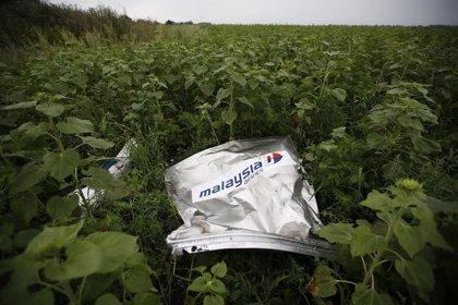 Expertos internacionales encuentran más restos humanos en el lugar donde cayó el avión de Malaysia Airlines
