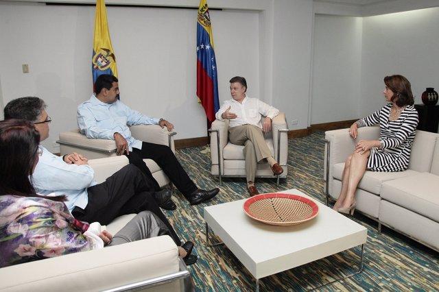 Santos y Maduro se reúnen en la ciudad de Cartagena