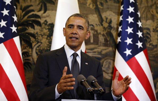 Barack Obama durante su visita a Varsovia