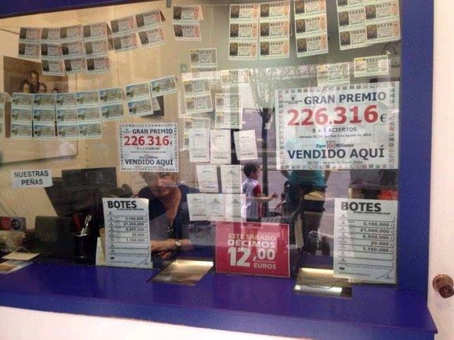 Premio de Euromillones en Gijón