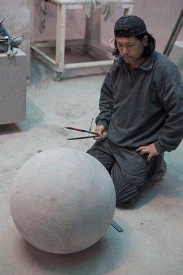 Tadanori Yamaguchi en el taller