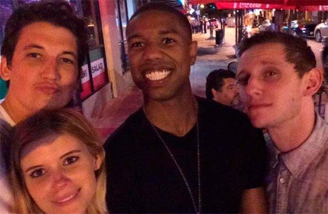 Selfie de los protagonistas de los 4 fantásticos