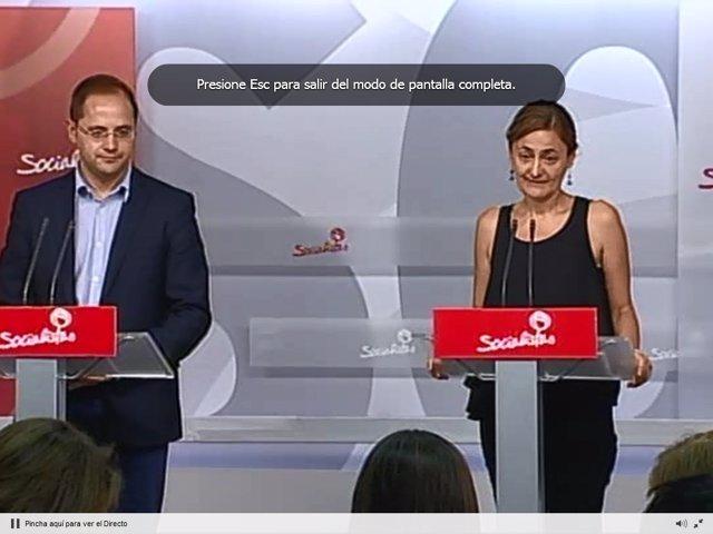 César Luena y Mariluz Rodríguez