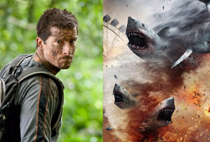 Bear Grylls, El último superviviente, sabe cómo sobrevivir a Sharknado