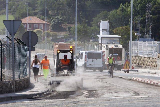 Obras en la Avenida Bilbao