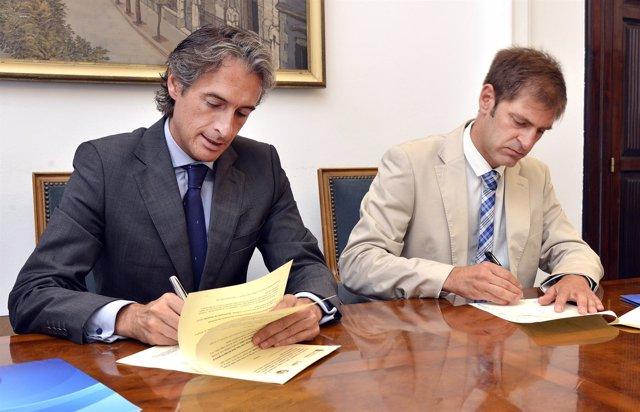 Firma del convenio Ayutamiento-Colegio de Ingenieros de Caminos