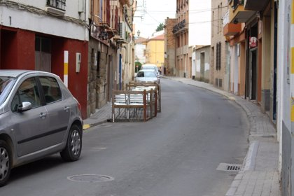 Obras en las calles Industria y Era Alta de Binéfar