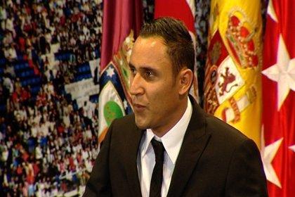 Imágenes de la presentación de Keylor Navas como jugador del Real Madrid