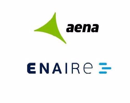Logos de Aena y ENAIRE
