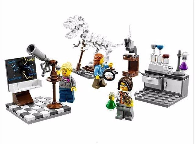 Lego lanza una colección de mujeres científicas