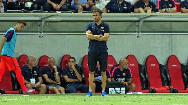 El técnico del FC Barcelona, Luis Enrique
