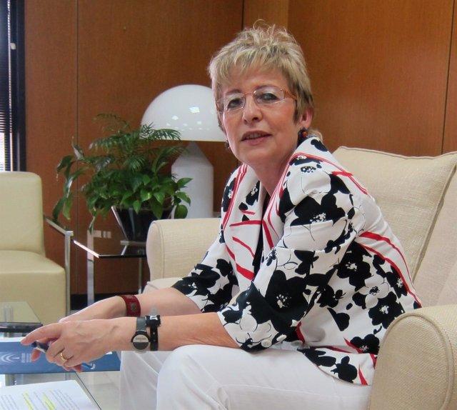La consejera de Agricultura, Pesca y Desarrollo Rural, Elena Víboras