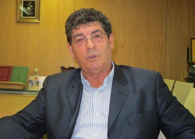 Diego Valderas, durante la entrevista