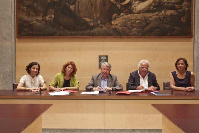 Firma convenio Diputación de Girona