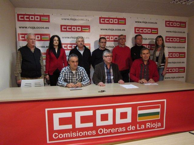 Integrantes de la futura dirección de CCOO La Rioja