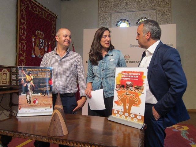 Rafael Rodríguez, Laura Fernández y Luis Ángel Chico durante la presentación.