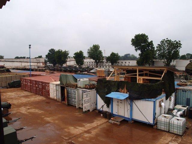 Base UCATEX de la misión europea en República Centroafricana