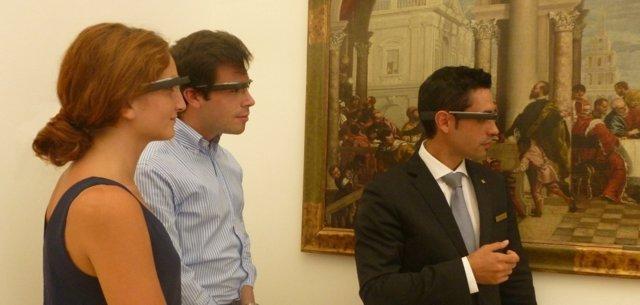 Huéspedes de la Abadía Retuerta usando Google Glass