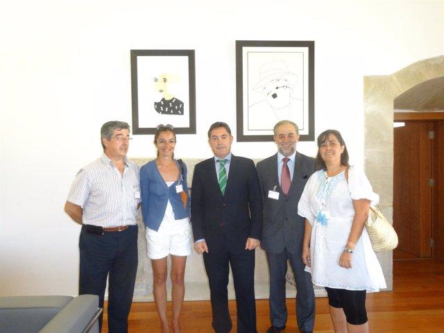 Martínez con la Asociación Cultural Pendones del Reino de León