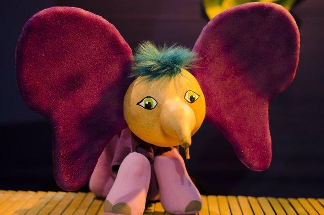 Imagen del espectáculo de títeres 'El Elefantito Preguntón'