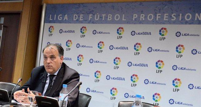 El presidente de la LFP Javier Tebas