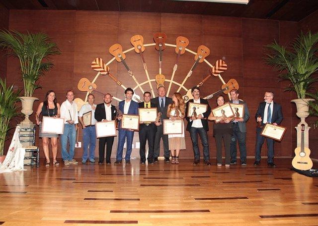 Imagen del grupo de premiados