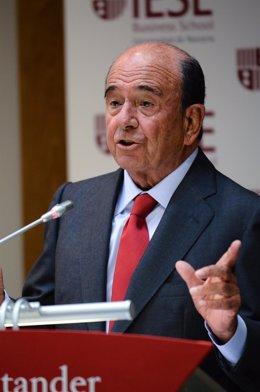 Emilio Botín en una charla en el IESE