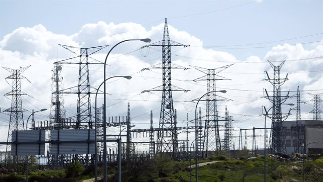 Recursos de torre de alta tensión, electricidad