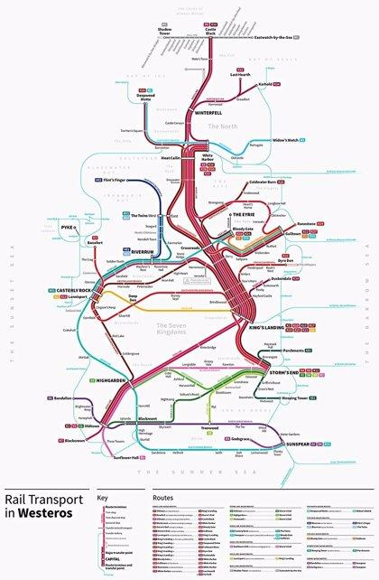 Así es el Metro de Juego de Tronos